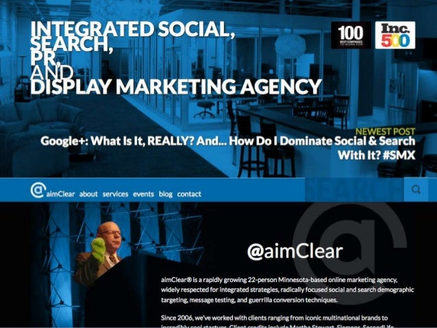 Dominate Facebook With Your Content StrategyMarty Weintraub, CEO@aimClear