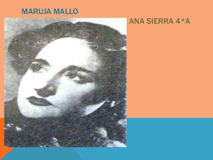 MARUJA MALLO               ANA SIERRA 4*A