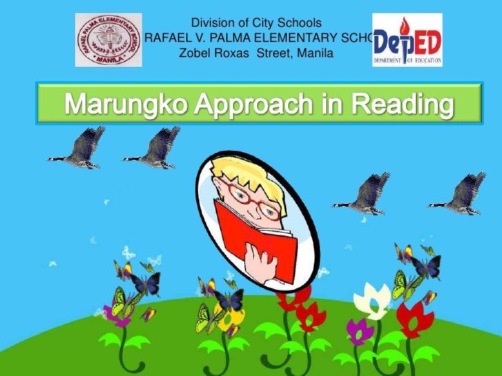 Division of City SchoolsDR. RAFAEL V. PALMA ELEMENTARY SCHOOL        Zobel Roxas Street, Manila