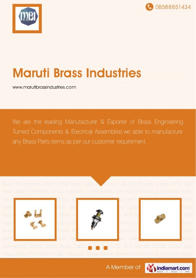 08588851434A Member ofMaruti Brass Industrieswww.marutibrassindustries.comBrass Electrical Fittings Components Brass PPR F...