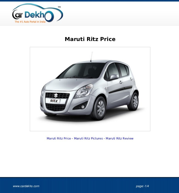Maruti Ritz Price                   Maruti Ritz Price - Maruti Ritz Pictures - Maruti Ritz Reviewwww.cardekho.com         ...