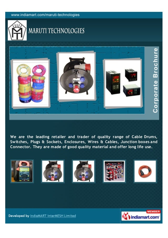 We are the leading retailer and trader of quality range of Cable Drums,Switches, Plugs & Sockets, Enclosures, Wires & Cabl...