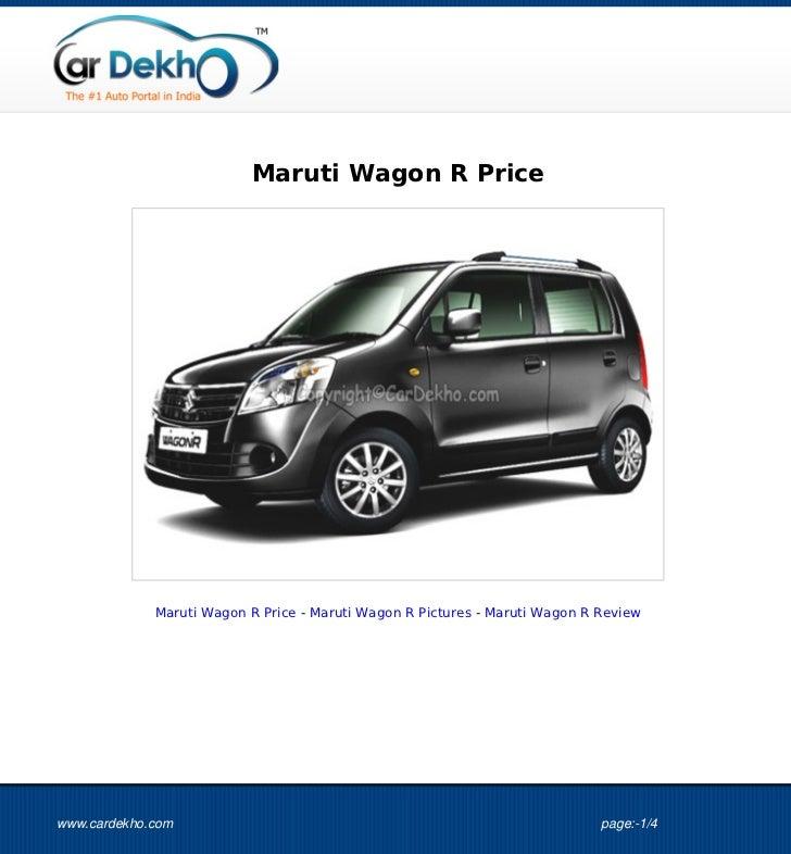 Maruti Wagon R Price             Maruti Wagon R Price - Maruti Wagon R Pictures - Maruti Wagon R Reviewwww.cardekho.com   ...