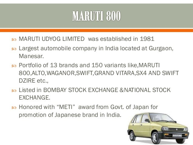 marketing strategies of maruti suzuki In the wake of decline in car sales owing to rising inflation, maruti suzuki motors is now amending its marketing strategies it is working out many plans to increase the car sales and has tied up with different car dealers across the country.