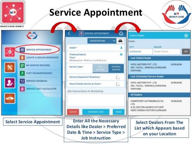 Car Service App: Maruti Care App