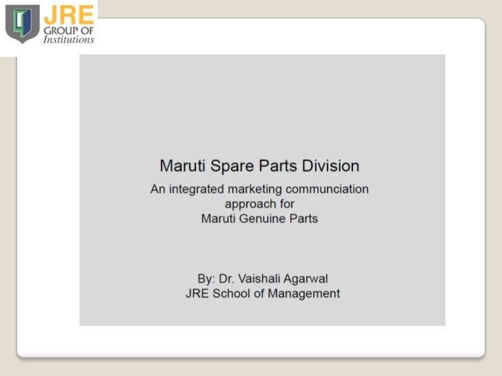 Maruti Case Study Part I