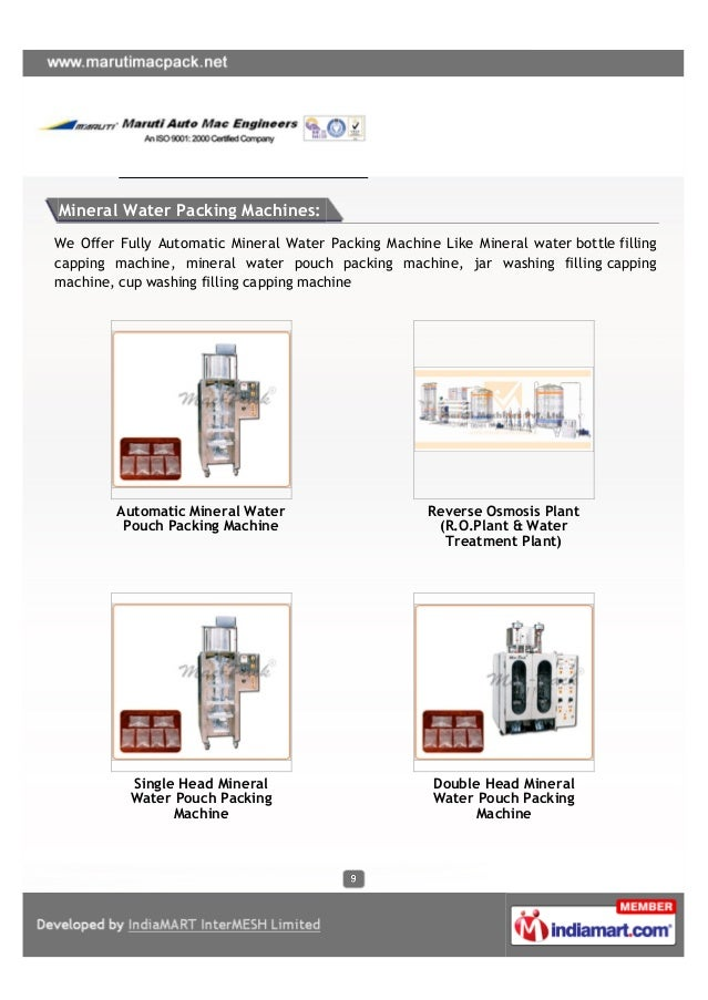 Maruti Auto Mac Engineers,Ahmedabad, Liquid Pouch Packing