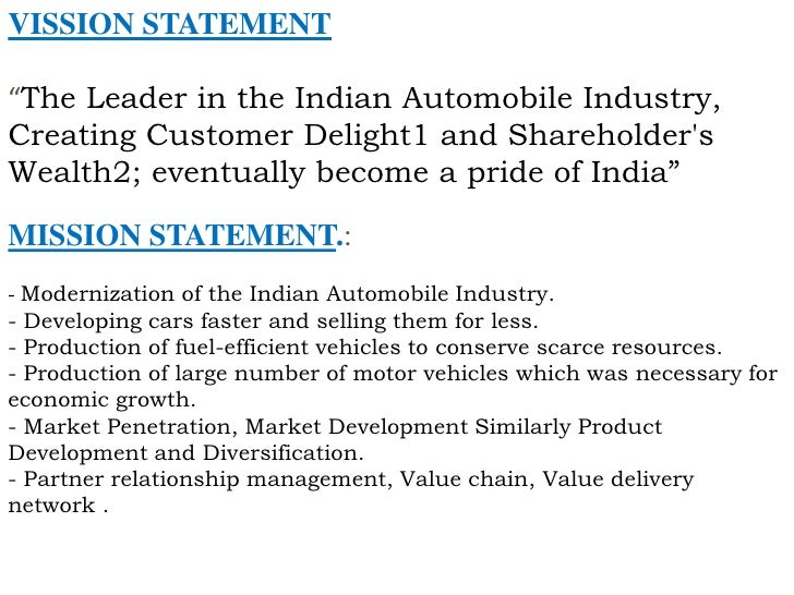 mission and vission statement of bajaj motors Click inside to find the most current general motors company (gm) mission statement online the mission is evaluated using our unique framework.