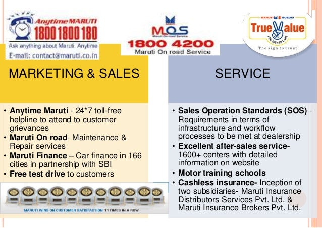 Maruti suzuki operation strategy