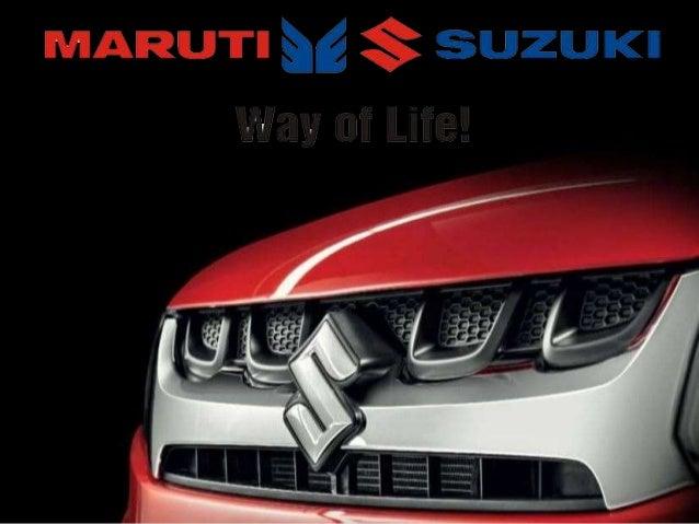 Maruti Suzuki Ppt Power Point Presentation