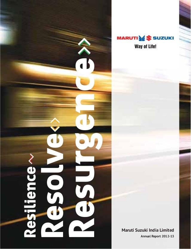 Download Annual Report Of Maruti Suzuki