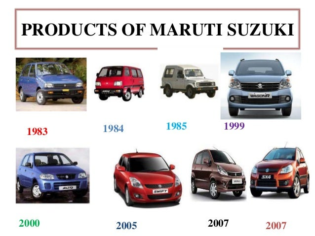 Maruti Suzuki Product Line