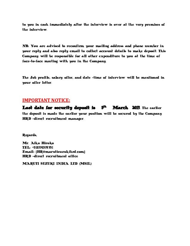 Marutisuzuki Call Letter