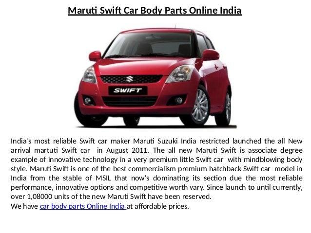 Maruti Suzuki Swift Car Body Parts Online India
