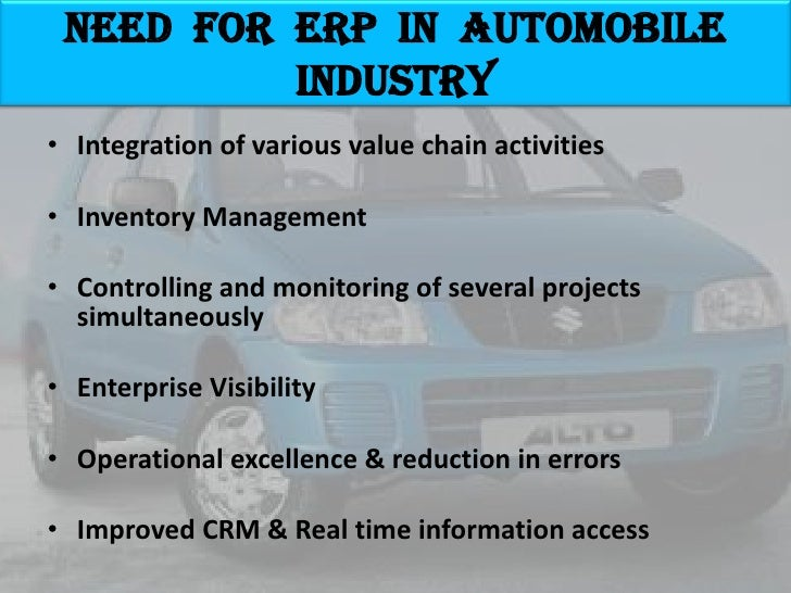 erp implementation at maruti suzuki ltd Indian automobile industry • need for erp in automobile industry • maruti suzuki  india ltd– an intro • pre-implementation • implementation strategies and.