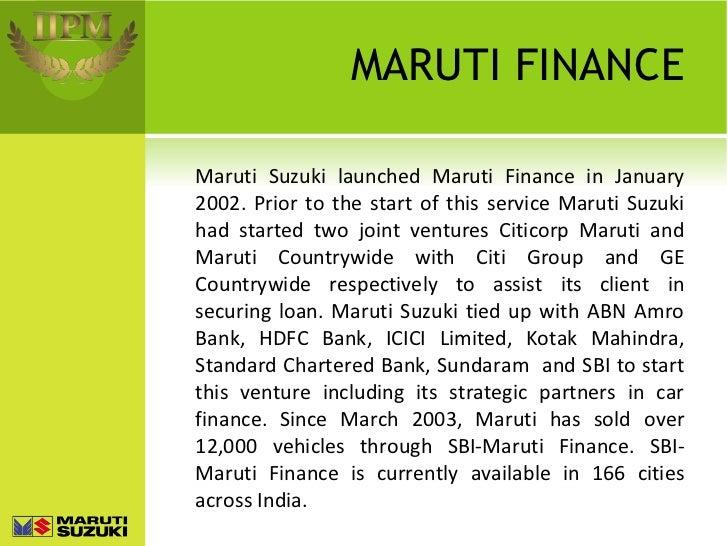 Maruti Suzuki A Brief Ppt Assignment