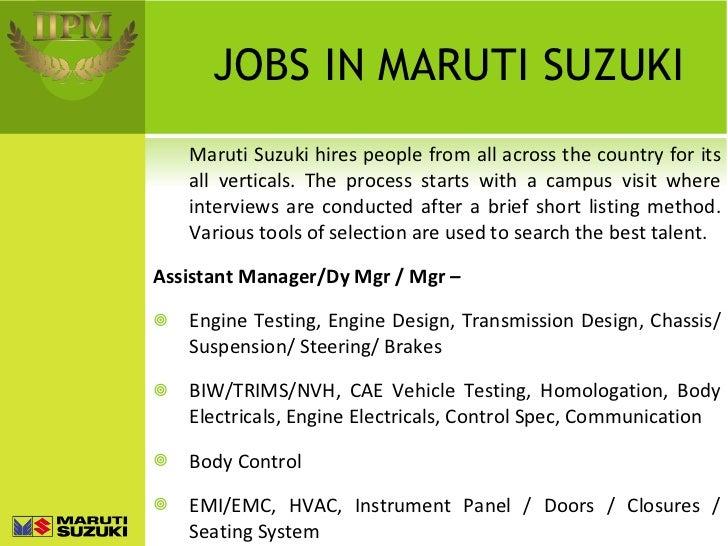 Maruti Suzuki a brief PPT ignment