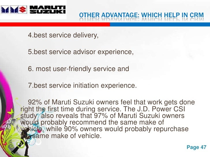 maruti ppt Program overview: maruti suzuki is organizing a program on dealers sales  consultant level-4 alongwith training partner nti (which is a jv between  sewells.