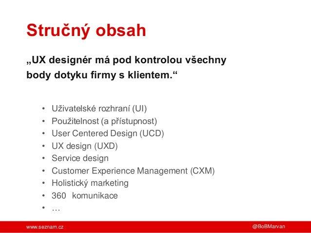 UX není cesta, ale cíl Slide 2