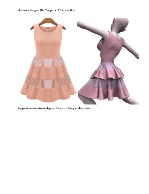 Marvelous Designer Skirt Templates & Presets