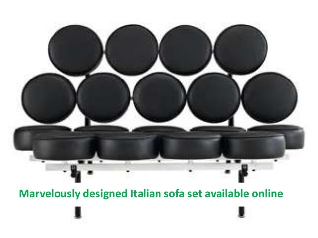 Marvelously designed Italian sofa set available online