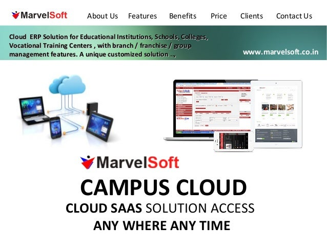 About Us  Features  Benefits  Cloud ERP Solution for Educational Institutions, Schools, Colleges, Vocational Training Cent...