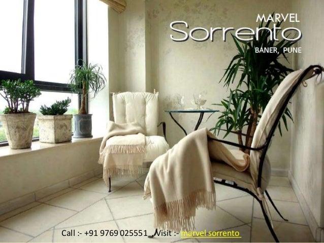 MARVEL Sorrento Baner, Pune Developed by Marvel Realtors Call :- +91 9769 025551 , Visit :- marvel sorrento