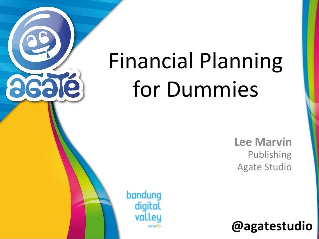 @agatestudio Financial Planning for Dummies Lee Marvin Publishing Agate Studio