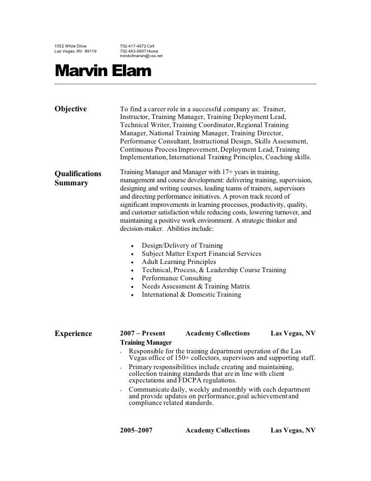 Bill Collector Sample Resume