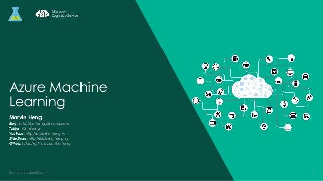 Azure Machine Learning Marvin Heng Blog : http://hmheng.pinsland.com Twitter : @hmheng YouTube: http://bit.ly/hmheng_yt Sl...
