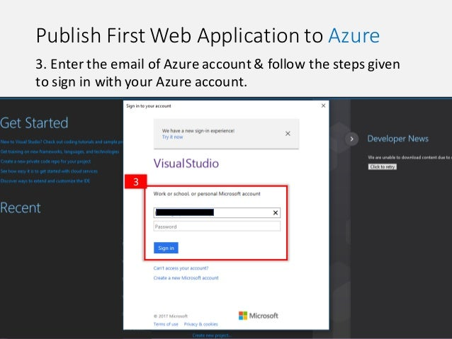 Cloud: Publish First Web Application to Azure Using Visual