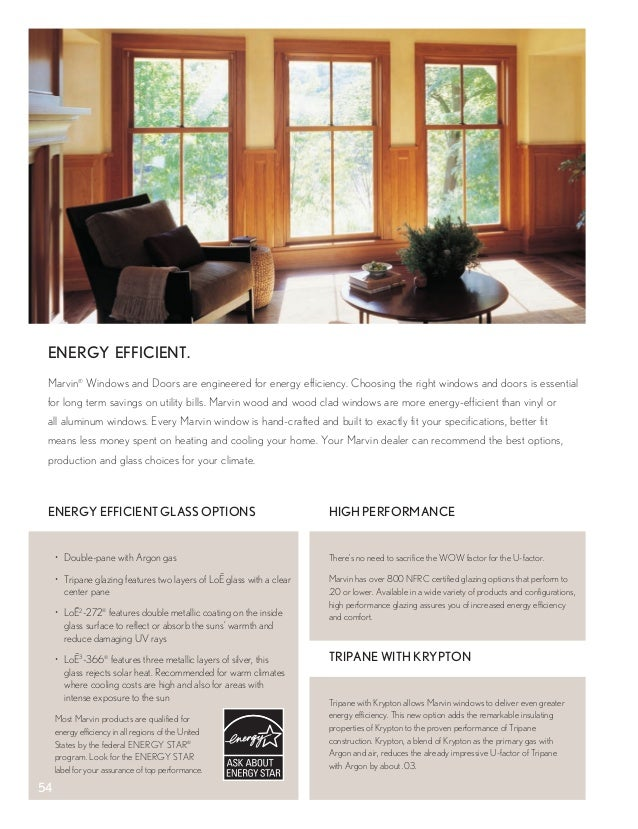 Marvin windows and doors product catalog Marvin windows u factor