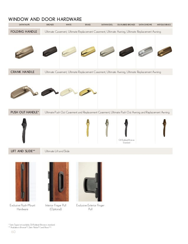 Exterior sliding doors - Marvin Windows And Doors Product Catalog