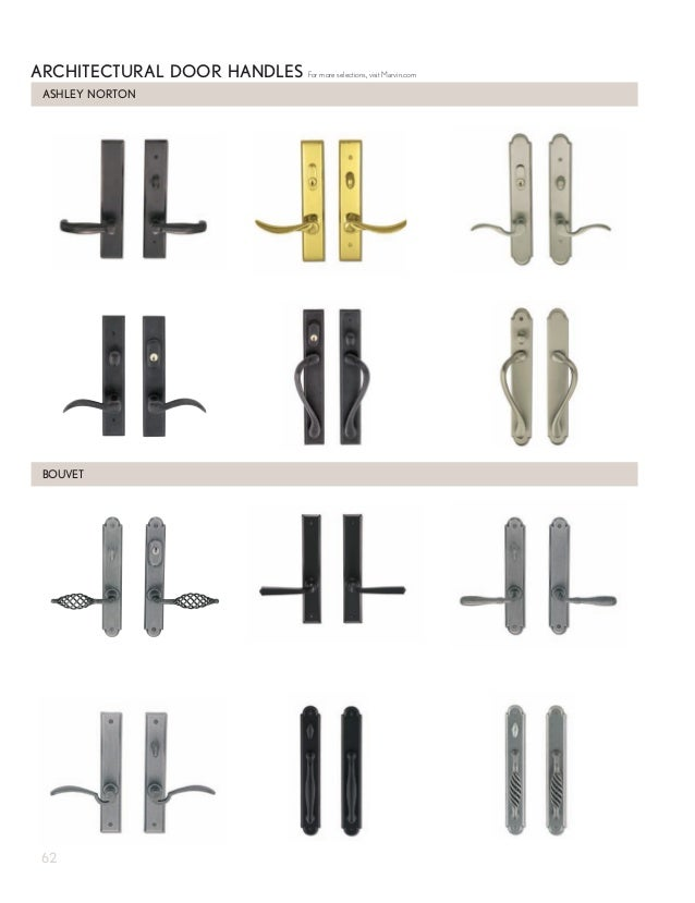 ASHLEY NORTON ARCHITECTURAL DOOR HANDLES BOUVET For more selections visit Marvin.com 62; 64.  sc 1 st  SlideShare & Marvin Windows and Doors Product Catalog