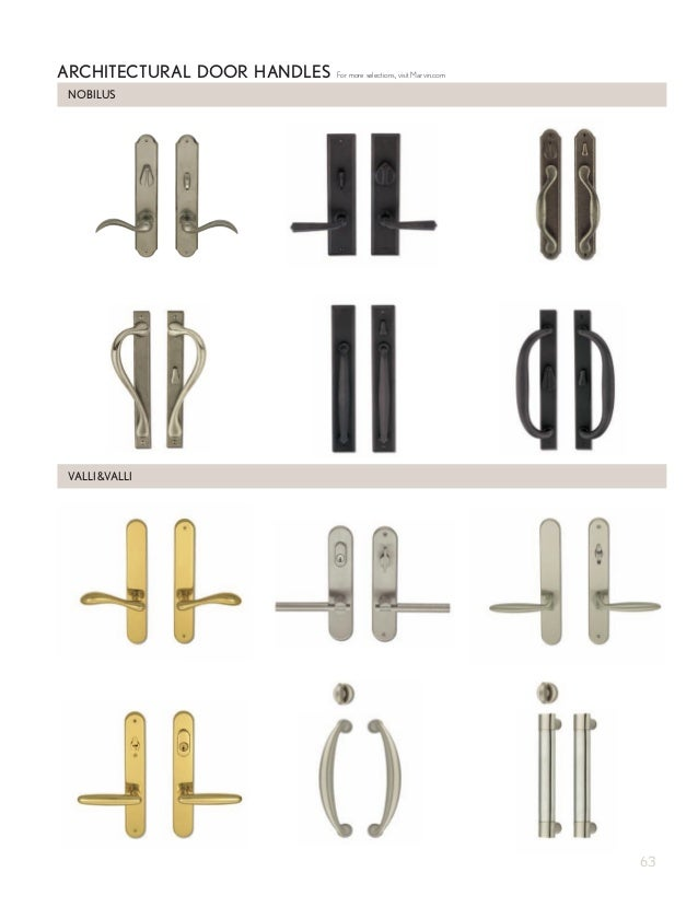 Charmant NOBILUS ARCHITECTURAL DOOR HANDLES VALLIVALLI For More Selections, Visit  Marvin.com 63; 65.