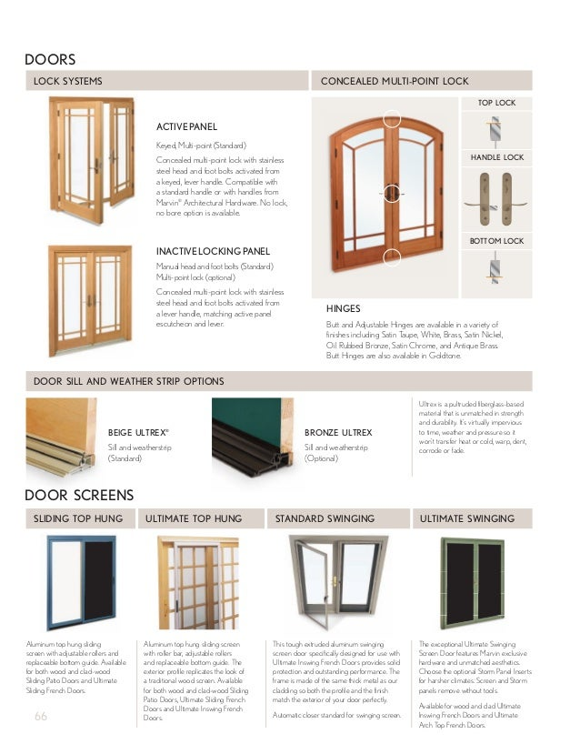 Marvin windows and doors product catalog for Marvin ultimate swinging screen door