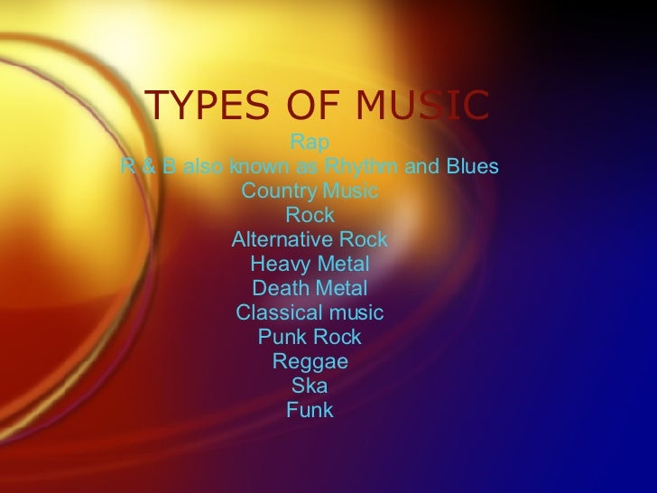 The fundamental music genre list