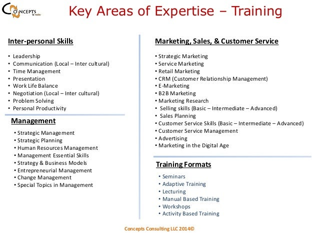 areas of expertise for customer service