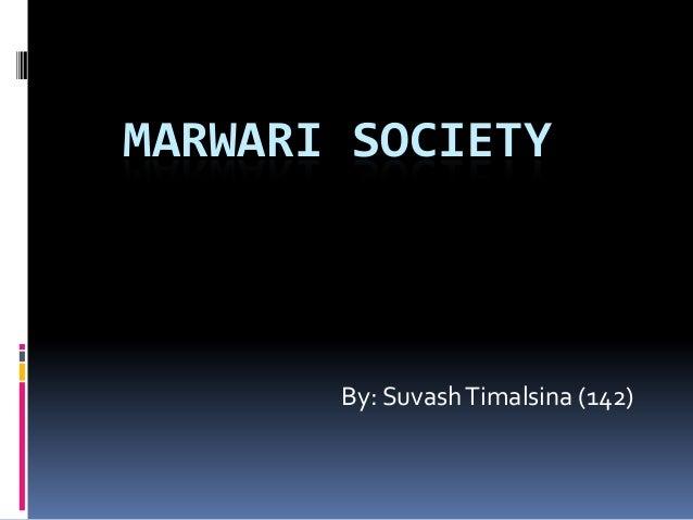 Marwari society