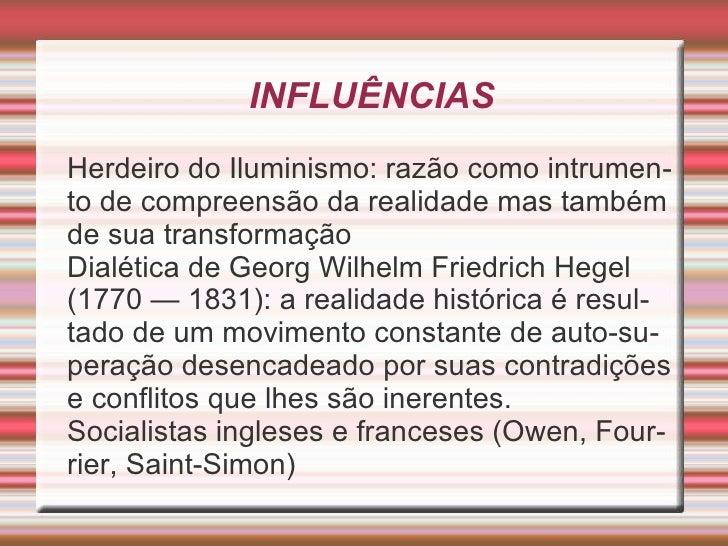 Ideias De Hegel ~ Sociologia Marx