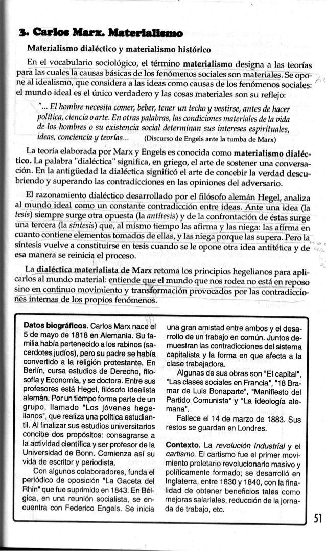 3. G¡rtor Dtú& M¡tcrl¡¡buo   Materialismo dialécticoy materialismohistórico   En el vocabulario sociológico,el término mat...