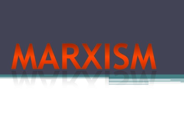 Marxism<br />