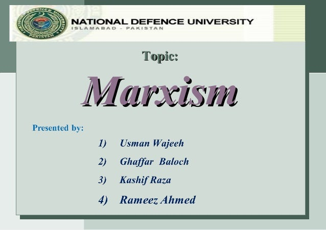 Topic:Marxism