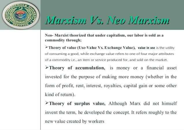 marxism and exchange value Marx's view of the division of labor  a peculiar para­dox for marxism  and to exchange the fruits of production on a value for value received basis.