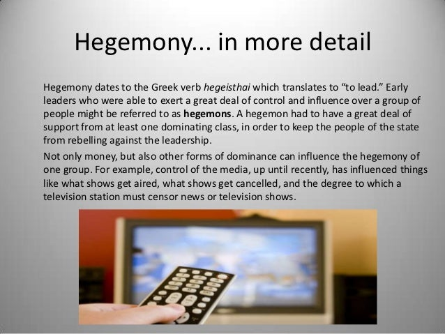 """Hegemony... in more detailHegemony dates to the Greek verb hegeisthai which translates to """"to lead."""" Earlyleaders who were..."""
