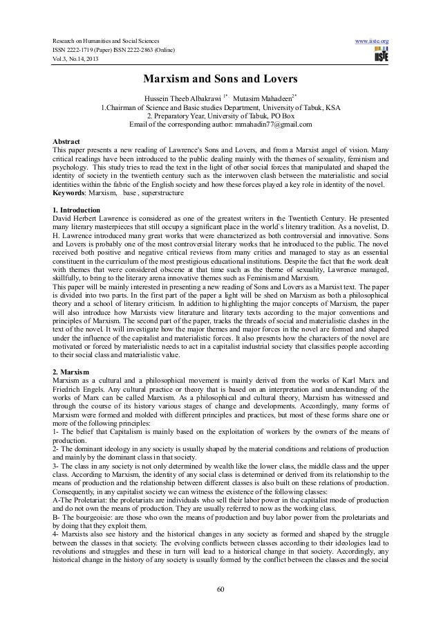 Research on Humanities and Social Sciences ISSN 2222-1719 (Paper) ISSN 2222-2863 (Online) Vol.3, No.14, 2013  www.iiste.or...