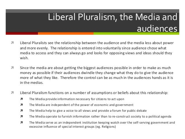 pluralist view on mass media