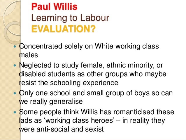learning to labor paul willis