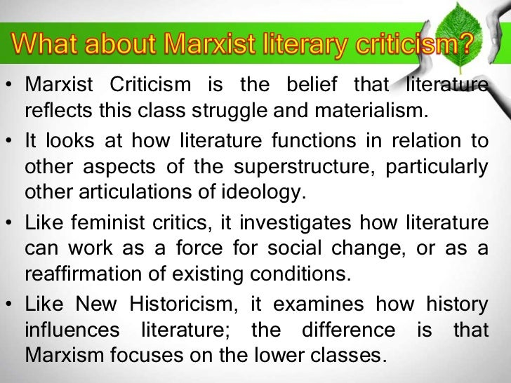what is marxist criticism in simple terms