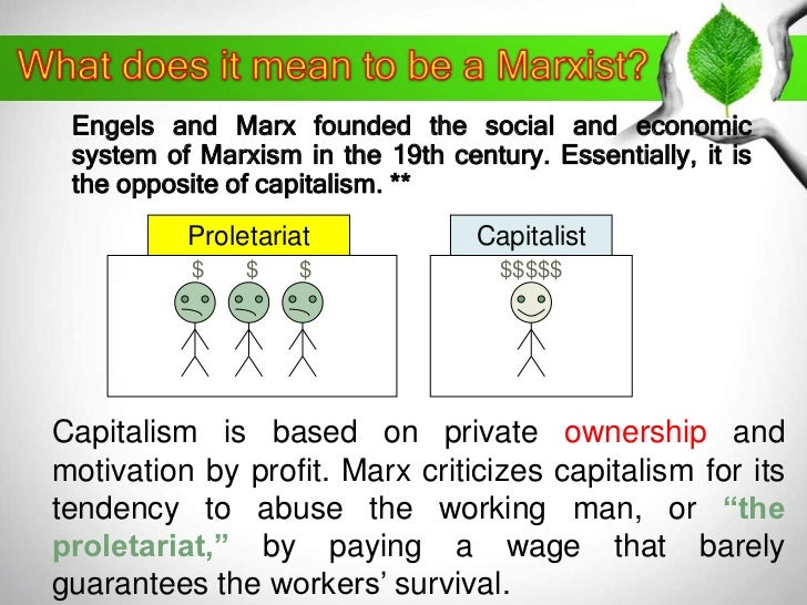Marx and capitalism essay